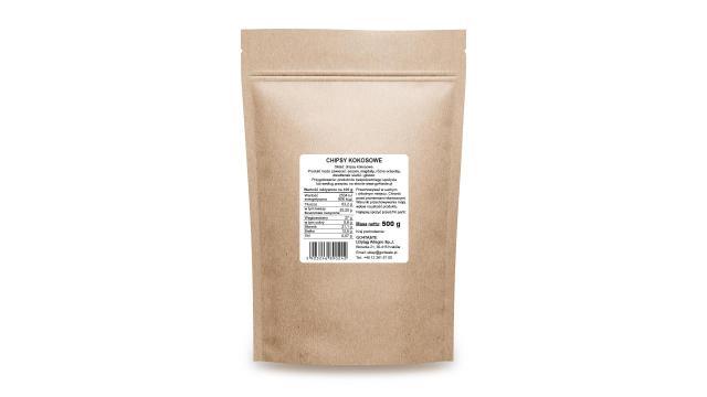 Chipsy kokosowe cena 500g bezsiarkowe naturalne