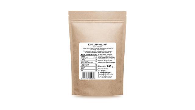 Kurkuma mielona - 200g 3 % Kurkuminy